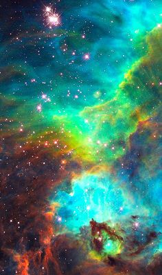 A small portion of the nebula star cluster NGC 2074, located 170,000 light-years away