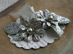 beautiful platinum glittered holiday flower by juliecollings