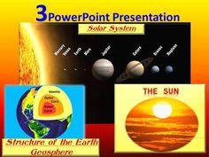 3 PowerPoint Presentation- Solar System- The sun- Geospher