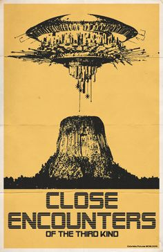 Close encounters of the third kind   Trevor Dunt Poster Design