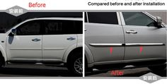 97.77$  Watch now - http://ali89h.worldwells.pw/go.php?t=32370005078 - Protector For Mitsubishi pajero sport 2011-2014 Metal Side Door Body Molding Cover Trims 4pcs / set