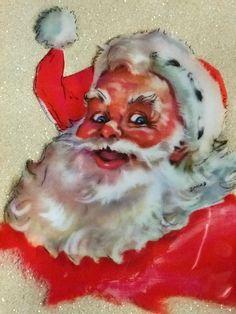 Very Cool Vintage Santa Card