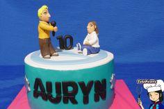 Paula celebra su décimo cumpleaños con Dani del grupo Auryn.