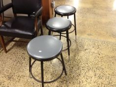 Used Chairs, Grey Top, Stool, Furniture, Home Decor, Decoration Home, Room Decor, Home Furnishings, Home Interior Design