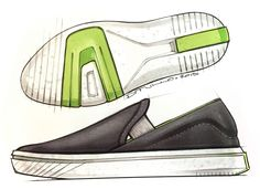 Vans slip on #industrialdesign sketch