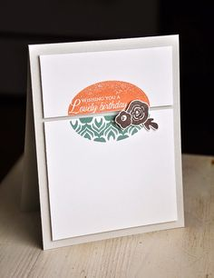 Lovely Birthday Card by Maile Belles for Papertrey Ink (January 2015)