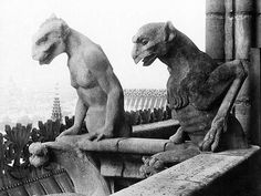 gargoyles of paris | France. Notre Dame de Paris. Gargoyles (19th century restoration ...