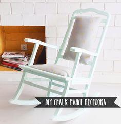 diy chalk paint mecedora