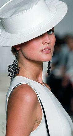 Ralph Lauren | White Hat Glam | LuxeBeALady | Rosamaria G Frangini