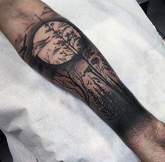 tattoo tattoo shit moon tattoo men tree sleeve tattoos tattoo trees ...