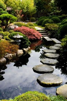 Adorable This balanced garden has a natural and asymmetric pond. Ponds are common in Japanese gardens. These ponds often have koi fish in them. These fish can bring even more wonderful color and life to your space. The post This balanced garden has a natural and asymmetri ..