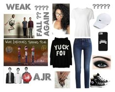 """""""Weak - AJR"""" by adriacowell22 on Polyvore featuring Calvin Klein, Converse, R13, Max Factor, weak and iloveAJR"""