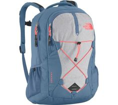 The North Face Women's Jester Backpack Moonlight Blue Heather/Tropical Coral Size One Size The North Face