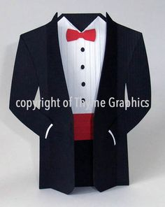 create your own paper tuxedo crafts pinterest cards