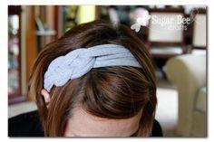 DIY t-shirt headband