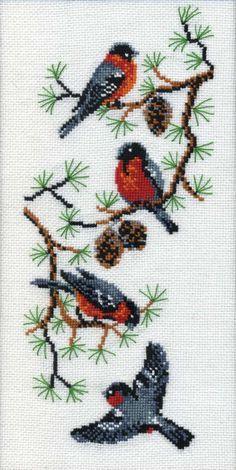 Just Cross Stitch, Cross Stitch Borders, Cross Stitch Animals, Cross Stitch Flowers, Modern Cross Stitch, Cross Stitch Charts, Cross Stitching, Cross Stitch Embroidery, Hand Embroidery