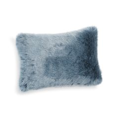 Coussin en fausse fourrure bleu 30 x 45 cm SAMOENS