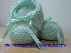 (¯`·¸·´¯)Eu Adoro Tricô(¯`·¸·´¯): Sapatinhos de bebê