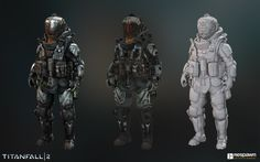 Pilot character for Titanfall 2   Art Director: Joel Emslie  Concept Artist: Hethe Srodawa  Weapon Artists: Wonjae Kim
