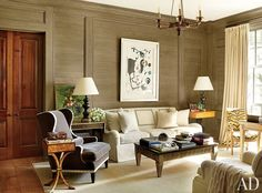 Traditional Living Room by Suzanne Kasler Interiors and Spitzmiller & Norris in Walland, Tennessee