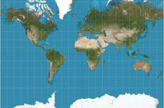 The truth is that every map tells a lie, but they don't all lie about the same thing. For example, Mercator projection maps—one of the most common in use today—exaggerate regions far from the equator. The Goode homolosine projection (pictured below) shows continents that are sized appropriately to one another, but with many interruptions and distortions of distance.