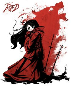 riding hood and blood wolf