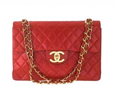 Image detail for -VINTAGE CHANEL RED 2.55 JUMBO QUILTED BAG