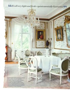 Swedish manor with original Gustavian period furniture