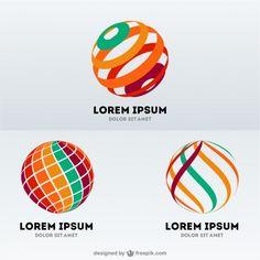 Esfera forma logos abstrato