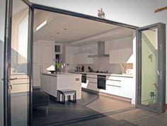 Bristol Bifold Doors: External Aluminium Bifold Doors in Opened Position