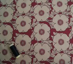 "Good quality 100% cotton lawn with a maroon & beige floral print ideal for dressmaking & craft purposes. BEAUTIFUL LARGE FLORAL PRINT COTTON LAWN FABRIC. 148cm / 58"" wide. A NOTE ABOUT COLOURS: I put a great deal of effort into taking images which represent the colours as closely as possible however the appearance of colours will always vary slightly from one computer screen to another. 