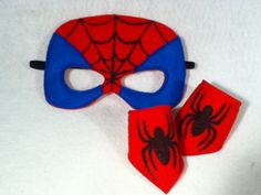 Spiderman Mask and cuff set by CapesNCrowns on Etsy Craft Activities For Kids, Preschool Crafts, Spiderman Cape, Fantasy Play, Vbs Themes, Felt Mask, Dress Up Boxes, Kool Kids, Super Hero Costumes