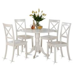 You'll love the Abrahamic 5 Piece Drop Leaf Linen White Dining Set at Wayfair - Great Deals on all Furniture products with Free Shipping on most stuff, even the big stuff.