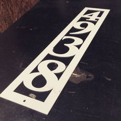 This custom metal address sign will put your house on the map...literally. It has a modern look, precut holes for easy installation, and made from sturdy, 16 gauge steel. This product is personalized