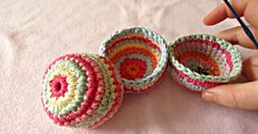 Learn How To Crochet These Simple, Quick, Mini Baskets!