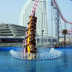 Dubai Roller Coaster - the world's fastest roller coaster is at Ferrari World in Abu Dhabi.    It does 0-60mph in less than two seconds, uses the type of hydraulic winch that flings jets off aircraft carriers and races round the track at 150mph.