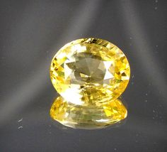 Perfect for Sapphire Lovers*6.24 ct Golden Yellow Sapphire Natural *Certified* #Unbranded