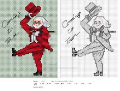 So here's the first of the 2015 Christmas patterns! I am doing Santas Old and New this year, and there will be four, one each week. Sorry this one is a bit late but I spent a couple of day baking r...