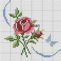 This Pin was discovered by ДОН Cross Stitch Rose, Beaded Cross Stitch, Cross Stitch Borders, Cross Stitch Flowers, Cross Stitch Charts, Cross Stitching, Cross Stitch Embroidery, Hand Embroidery, Funny Cross Stitch Patterns