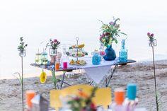 Sweet Table bunte Hochzeit tropisch - Bunte Boho Sommer Beach Party mit Karibik Flair | Hochzeitsblog The Little Wedding Corner
