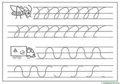 Grafomotricidad para Educación Infantil - Web del maestro Sheet Music, Teaching Aids, Note Cards, Teachers, Kids, Music Sheets