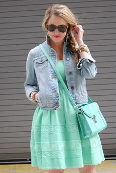 Cute Spring Outfit - A Lacey Perspective: Minty