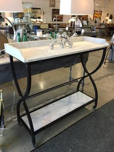 Marble Console Table/Bar