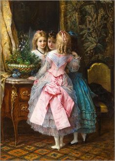 Eugen Joseph Lejeune (French, 1818-1897) In their fanciest dresses