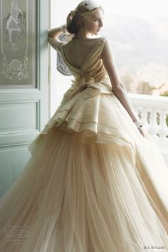 Beautiful cream wedding dress