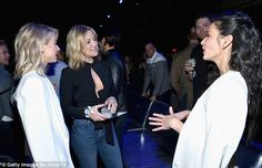 Chatting away: The famous ladies were indeed getting along famously from within the event
