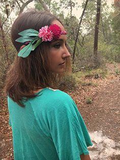 Summer Music Festival Headband, Boho headband, festival hair decoration, stretchy hair bands - Bridal hair accessories (*Amazon Partner-Link)