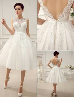 0fb132633aa Shop discount Chic Tulle   Organza   Satin Jewel Neckline Raised Waistline  Ball Gown Wedding Dress With Beaded Lace Appliques