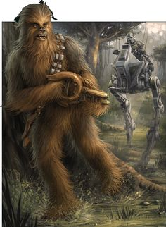 Chewbacca /by Chris Trevas Star Wars Rpg, Star Wars Fan Art, Han Solo And Chewbacca, Star Wars Characters Pictures, Star Wars Wallpaper, Star War 3, Star Wars Poster, Disney Star Wars, Sci Fi Art
