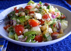 Mediterranean Chopped Salad « Gina Marie's Kitchen